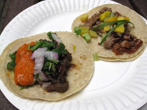 Roast Duck and Asian Asada Tacos
