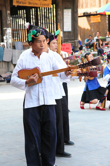 Singing Dong's folk song in Chengyang, Guangxi, China