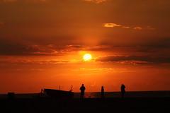 At the beach (Bronski Beat) Tags: sunset sun color colour denmark boat setting danmark siluet siluets bd nordjylland siluetter slettestrand