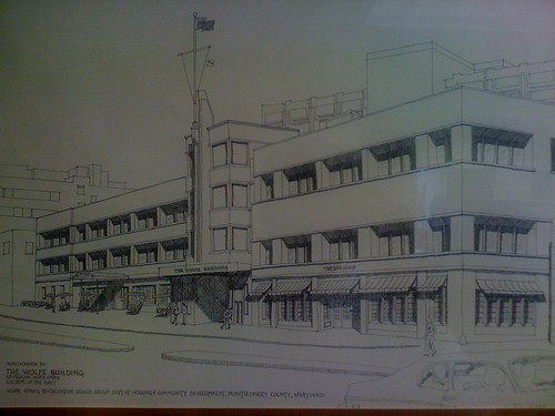 Proposed Building in Downtown Silver Spring, 1980's