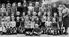 Showing up a pupil (theirhistory) Tags: boy girl class form teacher pupils clothing jumper shorts wellies dressseathed uk britain unitedkingdom enfants primary junior gb school students education