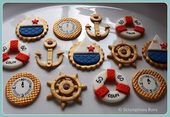 Nautical Cupcake Toppers (Scrumptious Buns (Samantha)) Tags: sea navy cupcake nautical logos toppers scrumptiousbuns
