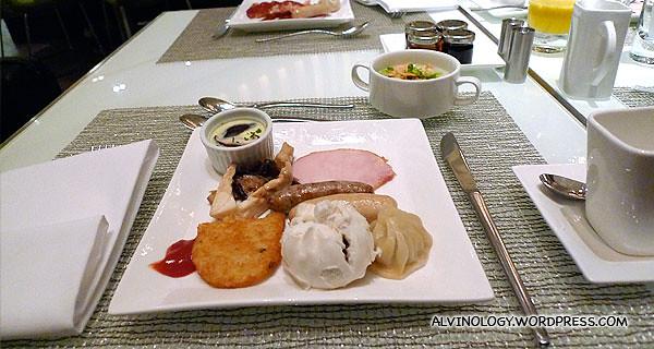 My hotel breakfast