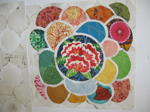 Lotus Tile Quilt Block I Completed