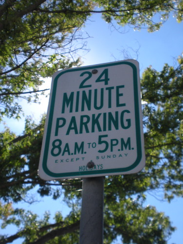 Parking sign in Downtown Napa