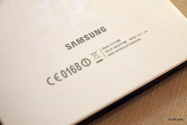 Galaxy Tab 背面 - PA023963
