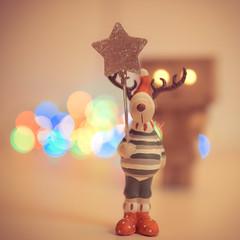 Moose & Amaznli (dongga BS) Tags: xmas weihnachten dof bokeh moose elch danbo canoneos50d ef35mmf14lusm danboard amaznli xmasmoose