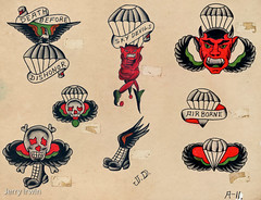 world war two airborne tattoo's flash card. (ripcordjerry) Tags: tattoo airborne worldwartwo paratrooper