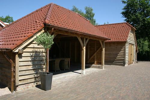 eiken carport en garage door eyckenhout - a photo on Flickriver