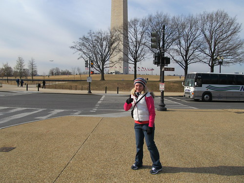 Katie at the Washington Monument 2011