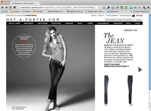 Net-A-Porter ecommerce experience