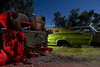 Cut and Stacked (Lost America) Tags: lightpainting ford car night fullmoon 1967 dodge junkyard 1941 charger nocturnes thebigm