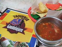 Taqueria Guadalajara chips and salsa