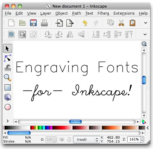 Hershey Text: An Inkscape extension for engraving fonts | Evil Mad