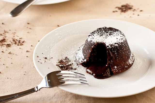Individual Molten Chocolate Cakes