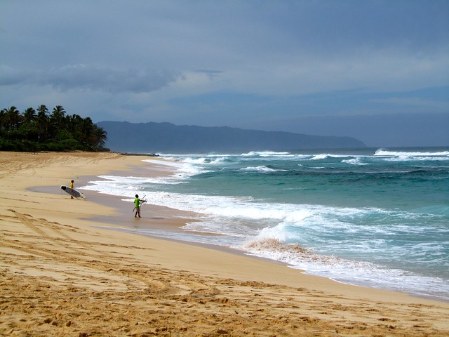 Hawaii, Oahu, North Shore, Sunset Beach, beaches