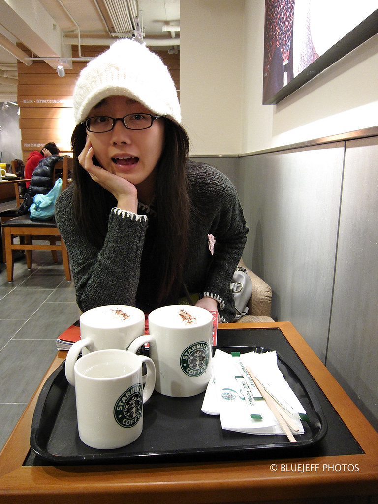 at Starbucks