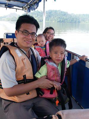 Boat to orang utan island