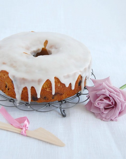 Blueberry tea cake / Bolo de mirtilos