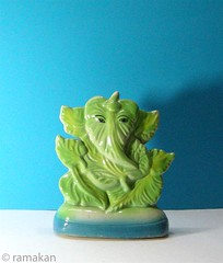 Ganesha 266 (ramakan) Tags: blue green ceramic ganesha lord days 365 pillayar porcelein vinayagar ganapathi