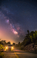 My Yaris under the Milky Way (Vagelis Pikoulas) Tags: toyotayaris car milky milkyway way stars star galaxy night nightscape landscape summer sky long kithaironas mountain greece june 2017 canon 6d tokina 1628mm space universe vilia