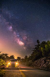 My Yaris under the Milky Way