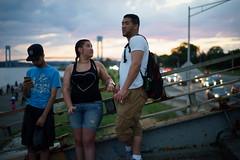 Pedestrian Bridge (dtanist) Tags: nyc newyork newyorkcity new york city sony a7 canon fd 50mm brooklyn bath beach shore promenade july 4th independence day fireworks locals waiting overpass pedestrian bridge