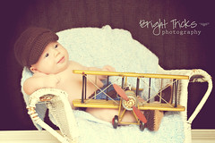 Airplane - 1 (RebeccaVC1) Tags: old boy baby 3 hat vintage airplane three chair months 3months crocheted wicker threemonths loafers newboy