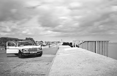 Passing of time (luns_spluctrum) Tags: uk england white black clouds island mercedes benz long exposure mask seawall mercedesbenz essex welders canveyisland canvey