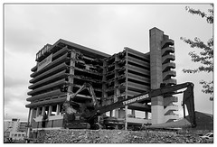 Get Carter (padraicyclops) Tags: bw 1969 architecture concrete blackwhite nikon documentary demolition gateshead carpark brutalist trinitysquare owenluder getcartercarpark thomsons gatesheadmultistoreycarpark
