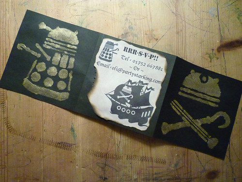 dalek pirate party invitations
