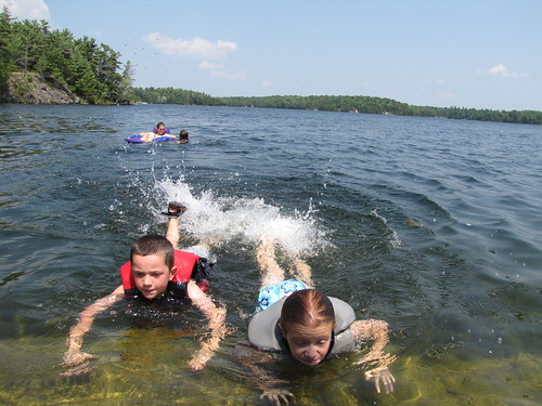 Swimming in Charleston Lake