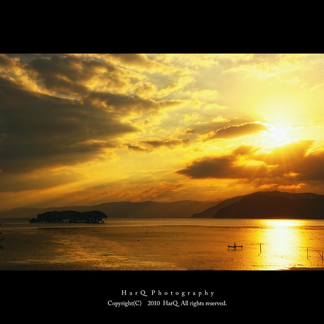 Sunset Time at Lake Biwa *