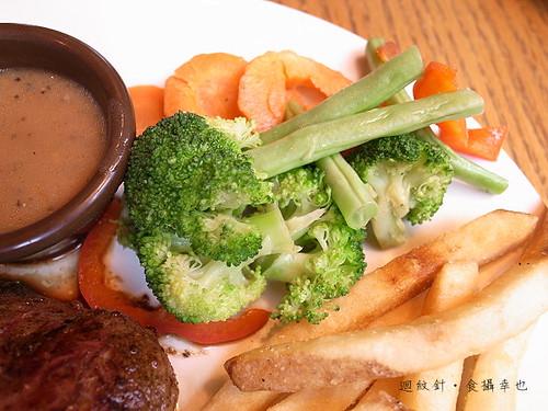 outback超值套餐沙朗牛排之蔬菜