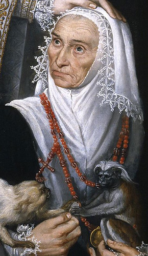 Magdalena Ruiz, detail from a portrait of the Infanta Isabella Clara Eugenia by the workshop of Alonso Sanchez Coello, ca. 1585. © Museo del Prado