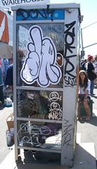 ZOER x MARZ (Visual Chaos) Tags: marz urbanfreestyle artsupplywarehouse zoersci orangecountygraffiti phonebooth losangelesgraffiti zoer dissizit zoerscicrew sticker wheatpaste