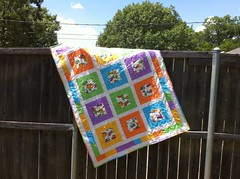 Bright baby quilt - Quilt for Kids