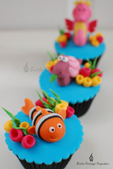 Nemo! (Little Cottage Cupcakes) Tags: sea fish cupcakes seahorse nemo snail fondant seasnail sugarpaste childrencupcakes littlecottagecupcakes