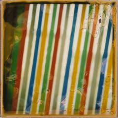 Stripes (Mary Hutchison) Tags: texture window polaroid stripes curtain free multicoloured plastic slr680 multicolour t4lagree