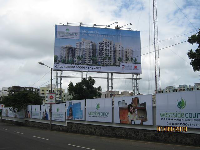 Darode Jog's Westside County Pimple Gurav Pune 411 027 - Site hoarding