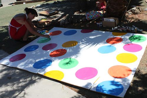 painting polka-dots