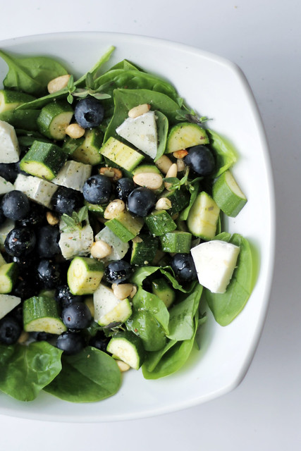 Blueberries, Goat Cheese and Spinach