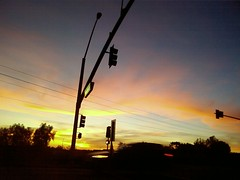 lights street (klsone) Tags: sunset pinkclouds