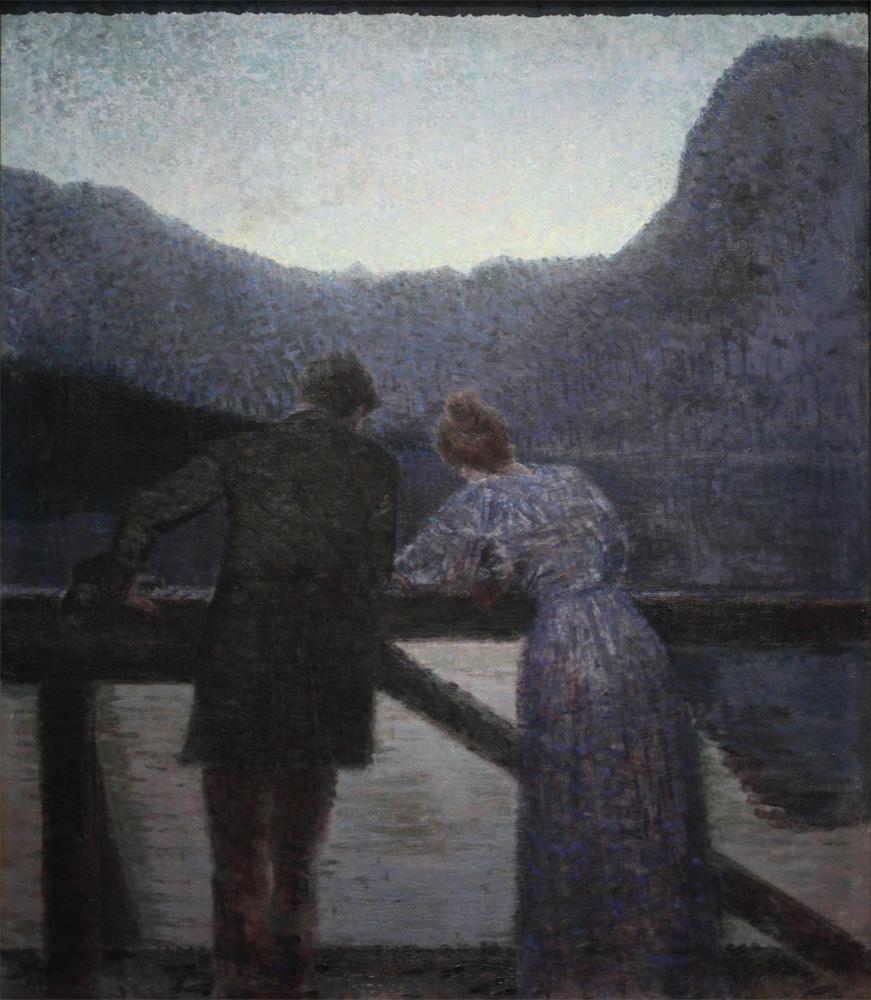 Ernst Stöhr, Paar am See [Couple by the Lake], 1897-1903