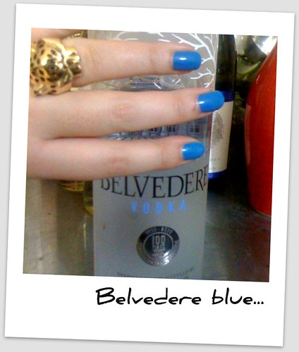 Blue nails and belvedere