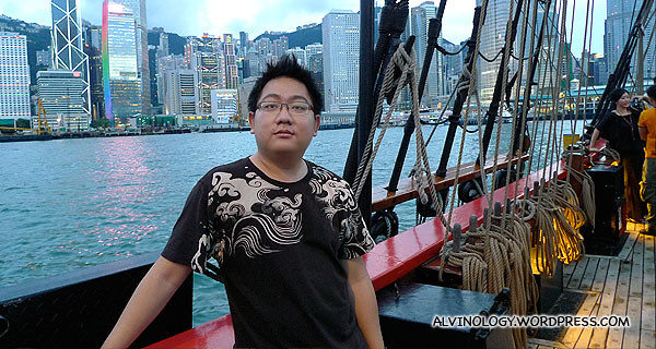 Me on board the Bounty, prior to sailing off