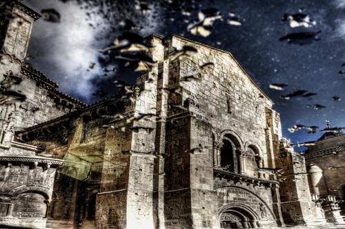 San Isidoro reflected. Leon. San Isidoro reflejada
