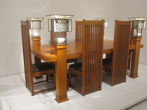 Robie house dinning room set by Frank Lloyd Wright