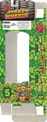 """Racing Champions """"Street Wheels"""" diecast 1:64 scale - 'Teenage Mutant Ninja Turtles' 5 pack :: CARD ii (( 1999 ))"""