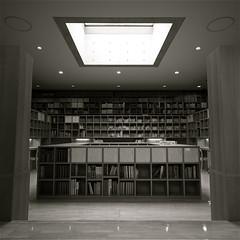 The Study. (Leodileo) Tags: bw japan architecture silent pentax books literature study  himeji tadaoando wok   tadaoand k10d